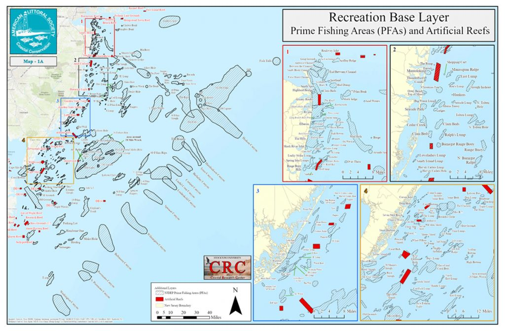 Prime Fishing Areas and Artificial Reefs